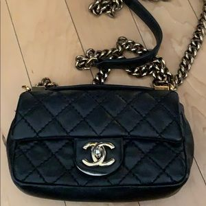 Chanel Black and Gold  Boy Bag Purse